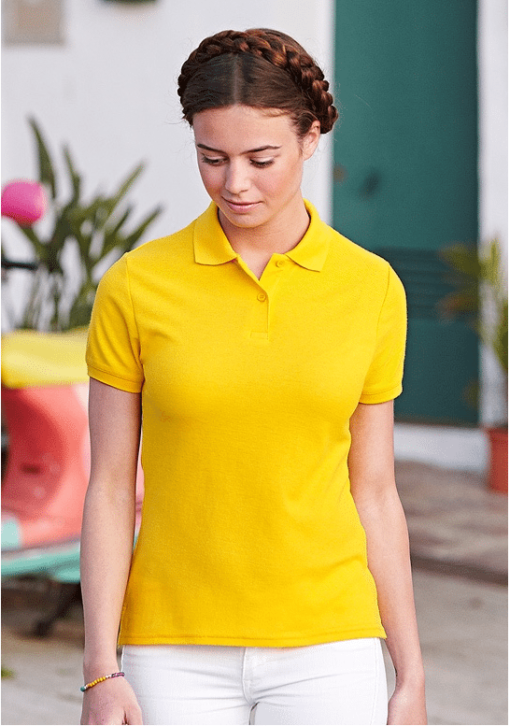 Premium Polo Fruit of the loom dame