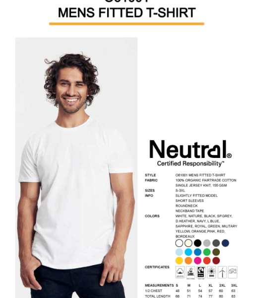 Mens fitted T-shirt Neutral