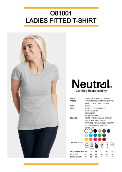 Ekologisk T-shirt Neutral