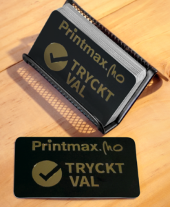 Plastkort med guldfolie