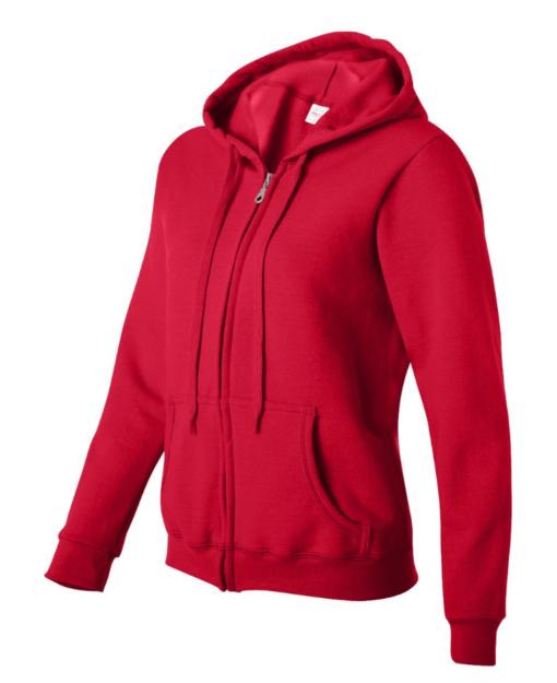 Full Zip Hettejakke for kvinner fra Gildan - moderne og rimelig