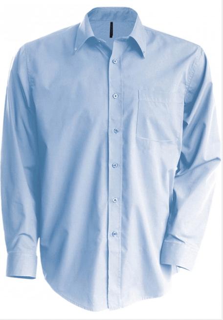 Strykefri Langermet Skjorte fra Kariban for Menn