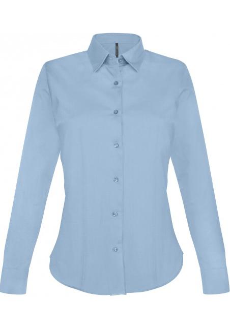 Stretch Langermet Skjorte fra Kariban for Kvinner