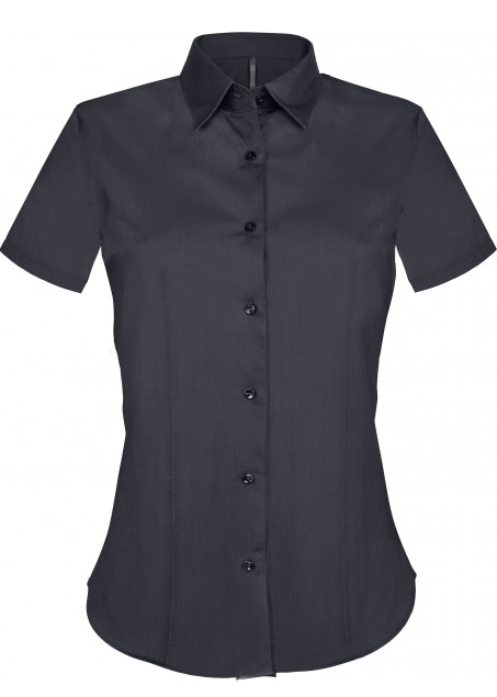 Stretch Kortermet Skjorte fra Kariban for Kvinner