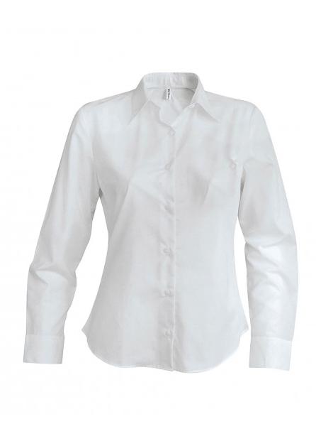 Strykefri Langermet Skjorte fra Kariban for Kvinner 43d648be90690